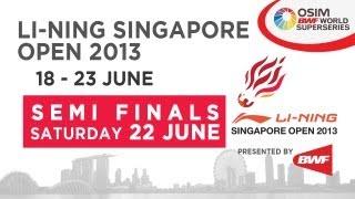 Event: Li-Ning Singapore Open 2013 - Semi Finals Date:18 June 2013 - 23 June 2013 Venue: Singapore Indoor Stadium Players: Nguyen Tien Minh (VIE) vs Tommy Su...