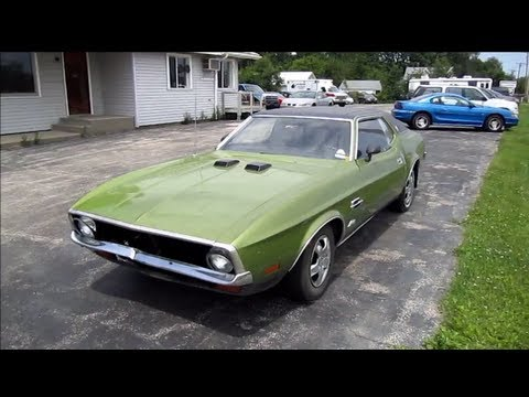 MUSTANG 1972 WALK AROUND, START UP And  Review