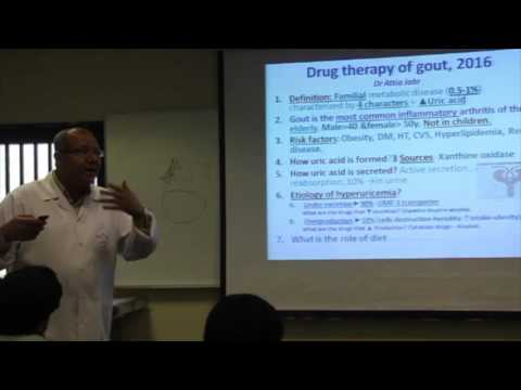 MSKL block - Pharmacology Lec - Gouty Arthritis Treatment - Dr. Attia