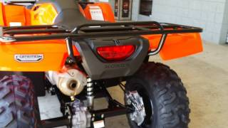 9. 2016 Honda FourTrax Foreman 500 - ATV Walk Around Video - TRX500FM1G Orange
