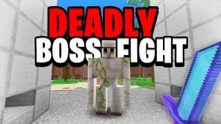 Deadly Boss Fight! (Server Fight) | Minecraft Skyblock