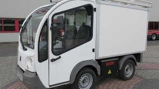 10. 775967 GOUPIL G3 ELECTRIC UTILITY VEHICLE UTV BOX VAN 05-2011 WHITE 16298KM