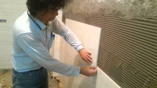Tile Installation on Brick Wall Process, Part 1