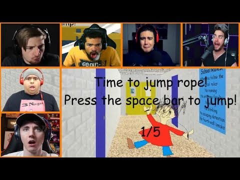 Let's Players Reaction To Jump Roping With Playtime Girl | Baldi's Basics In Education And Learning