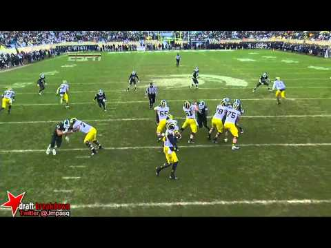 Shilique Calhoun vs Michigan 2013 video.