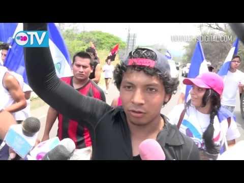 """Juventud de Matagalpa cargan la antorcha de la Libertad """"Sandino Siempre Más Allá"""""""