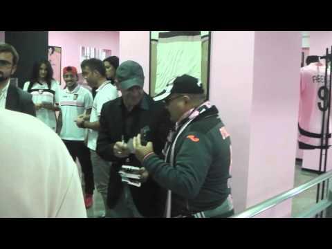 Palermo Store, Iachini e i giocatori all'inaugurazione
