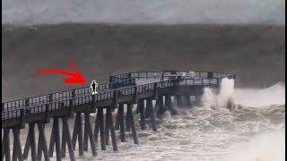 BIGGEST WAVES EVER IN FLORIDA!!! (Hurricane Michael Surf Gulf Coast) | JOOGSQUAD PPJT