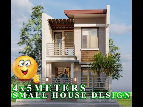 4x5 METERS (SMALL HOUSE DESIGN IDEAS 20sq.m/ 2 BEDROOMS)