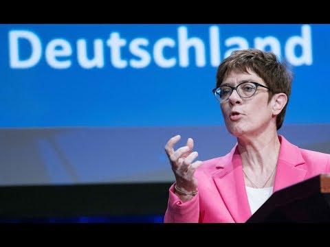 Kramp-Karrenbauer schließt Zusammenarbeit mit der AfD ...