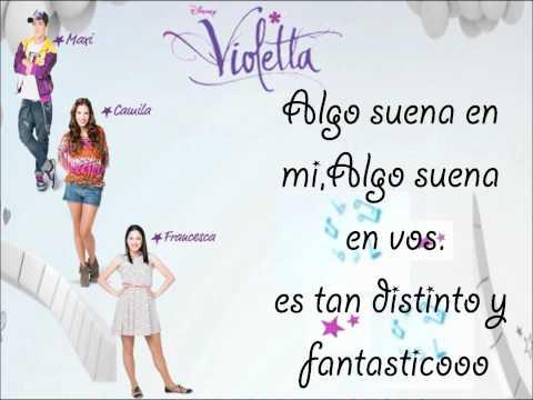 , title : 'Letra de Algo Suena En Mi de Violetta (Maxi,Camila,Francesca)'