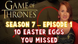 Let's talk about 10 Easter Eggs/References/Callbacks You Missed from Episode 1 of Game of Throne's Season 7.