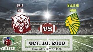 PSJA High vs McAllen Rowe