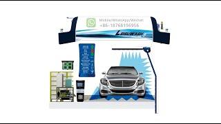 Leisuwash 360 Touchless Car Wash Machine Automatic Brushless Car Washing Machinery youtube video