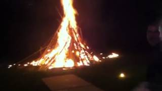 How to light a bonfire - with homemade bazooka! MUST SEE!!