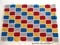 how to crochet lego blanket pattern by  - YouTube