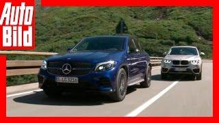 Die SUV-Sportler / Mercedes GLC vs. BMW X4 / Fahrbericht / Test / Vergleich / 2016 by Auto Bild