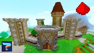 MCPE: Redstone Castle (w/ Huge Defense System)