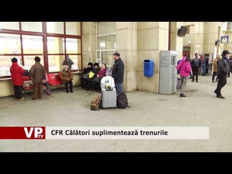 CFR Călători suplimentează trenurile