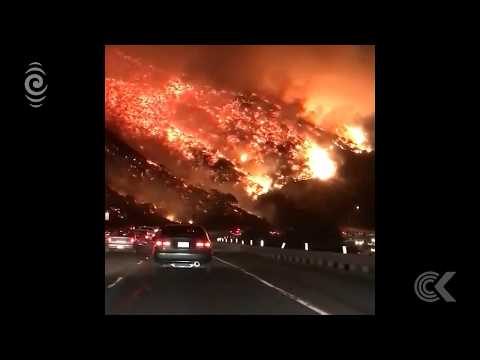Extraordinary video of LA fires goes viral