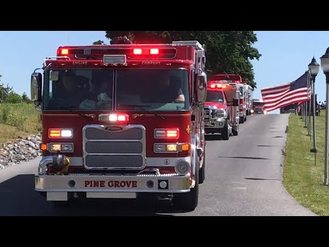 Apparatus Leaving Lebanon County Firefighters Parade 2018