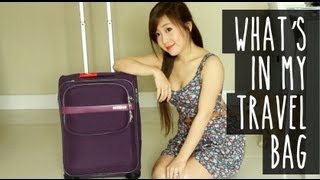 What's In My Travel Bag (Makeup, Skincare&Outfits)