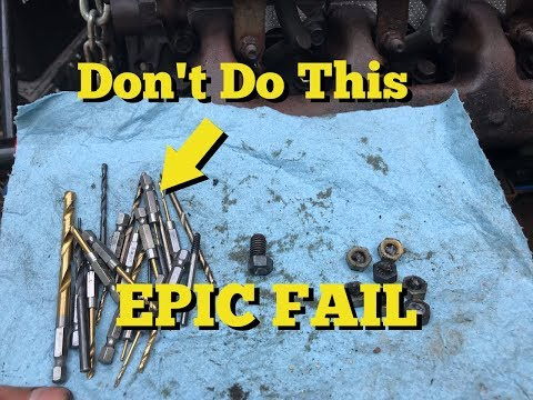 EPIC FAIL / How Not To Remove Snapped Exhaust Manifold Stud - F150
