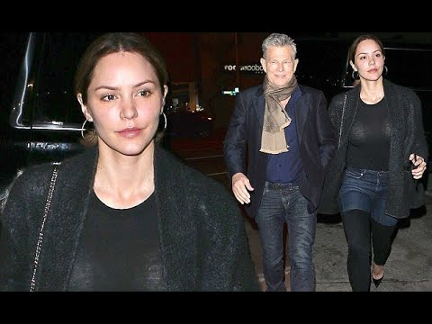 Katharine McPhee enjoys dinner with beau David Foster at Craig's