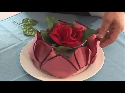 napkin folding heart - Looking for a guide on How To Make A Lotus Napkin? This helpful tutorial explains exactly how it's done, and will help you get good at napkin folding, dining...