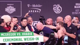 Video Conor McGregor vs. Khabib Nurmagomedov || Ceremonial Weigh-Ins MP3, 3GP, MP4, WEBM, AVI, FLV Desember 2018