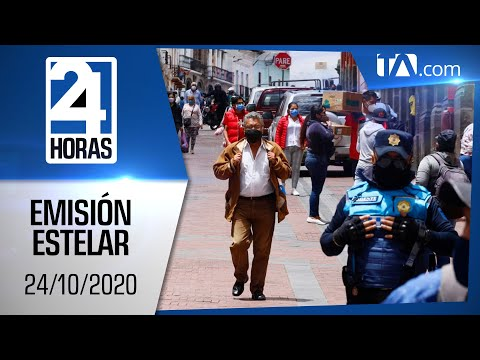 Noticias Ecuador: Noticiero 24 Horas, 24/10/2020 (Emisión Estelar)