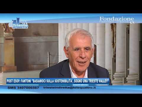 08/09/2020 - POST ESOF: FANTONI 'BASIAMOCI SULLA SOSTENIBILITA', SOGNO UNA TRIESTE VALLEY'