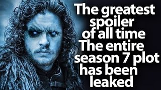 Hi everyone, today we have incredible news. The whole plot of the seventh season of Game of Thrones has appeared in the world...