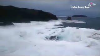Detik Detik Tsunami Kecil Di Pantai Pangandaran Efek Dari Gempa Bumi Semalem 15 Desember 2017
