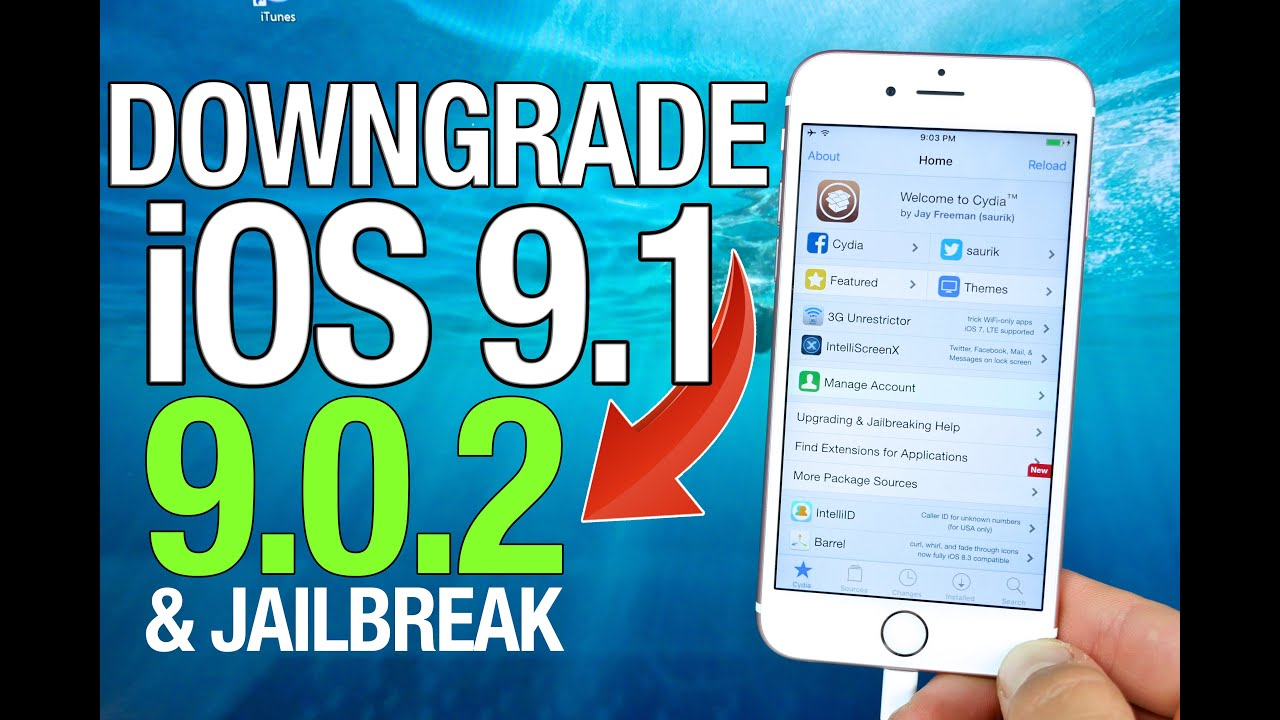 How To Downgrade iOS 9.1 to 9.0.2 & Jailbreak Untethered