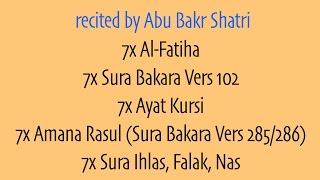"Video 7x Al-Fatiha, 7AyatKursi 7x AmanaRasul 3x Kuls | Magic, Sihr, Jinn | ""Abu Bakr Shatri"" MP3, 3GP, MP4, WEBM, AVI, FLV November 2018"