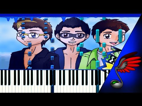 O-Zone - Dragostea Din Tei (Duet Piano Tutorial by Danvol) - Synthesia HD