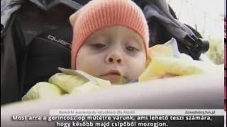 Amelka az agyi sérült kislány kezelése őssejtekkel