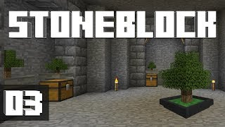 StoneBlock - Ep. 3: ITS HOPPIN! (Modded Minecraft 1.12.2)