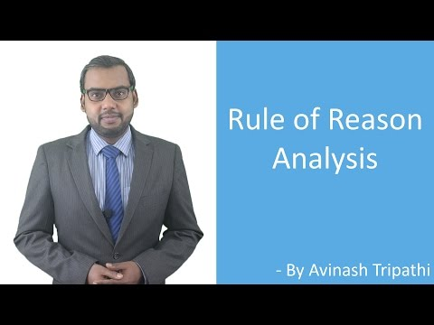 Lecture on Rule of Reason Analysis