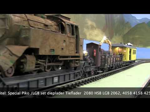 2012-06-08 Special Piko - LGB dieplader / Tieflader set