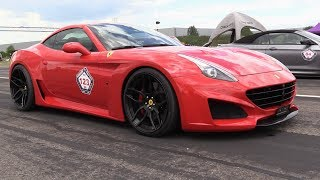 During the SCC500 Rolling50 1000 I have filmed this tuned Ferrari California T; The Novitec Rosso Ferrari California T N-Largo! You will hear the start up sound, loud revs and accelerations during the Rolling50 1000. It has a 3,9-liter V8 engine that produce now 646HP and goes from 0-100 in 3.3 seconds. It VMAX during the race is 264.04 km/h!I hope you will enjoy the video.Feel free to hit the 'thumbs up' button if you like the video! Make sure that you follow me on YouTube and subscribe to my supercar channel for the latest videos!BE SURE AND WATCH THIS VIDEO IN 1080p HD 50FPS QUALITY!Facebook: http://www.fb.com/cvdzijdenInstagram: https://instagram.com/cvdzijdenThanks for watching!Ciao, Chris /CvdZijden