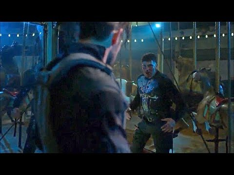 Punisher vs Billy Russo (pelea cuerpo a cuerpo) | Pelea en el parque (parte 2) - THE PUNISHER 1X13