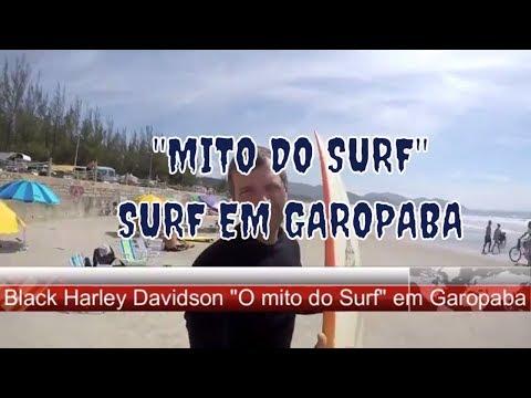 O Mito do Surf - Black Harley Davidson em Garopaba