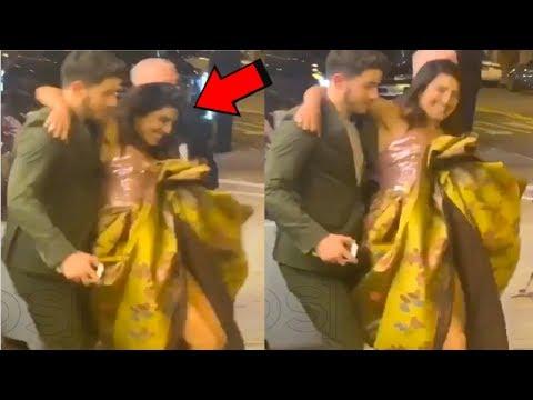 Nick Jonas SAVES Priyanka Chopra From FALLING Down At Isn't It R0MANTIC Movie Premiere