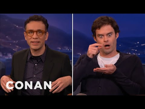 Fred Armisen Fires Back At Bill Hader's Impression  - CONAN on TBS