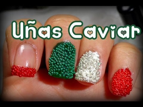 Uñas Caviar para el 15 de Septiembre ♡