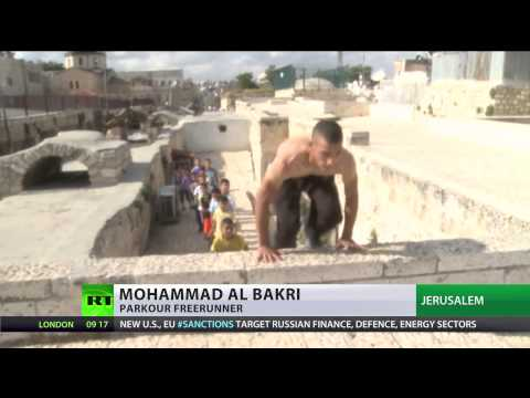 Living on the Edge: Palestinian parkour freerunners soar over Israeli occupation hurdle