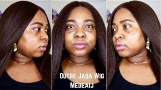 This is a first impression and try on of the Outre Jada Lace Front wig. Hey Guys and Dolls. Watch this video in HD for better quality and also increase the b...