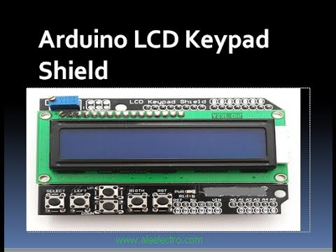 LCD SHIELD WITH KEYPAD FOR ARDUINO:  This LCD shield hosts a 16 x 2 backlight LCD & 5 keys & can be easily fixed over Arduino UNO.The LCD uses the 4 bit Arduino Library.Sketches are explained on testing the LCD ass well as the keys.visit my blog for further detailswww.alselectro.wordpress.com www.alselectro.com